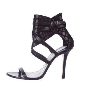 Camilla Skovgaarrd Black Strappy Open Toe Heels
